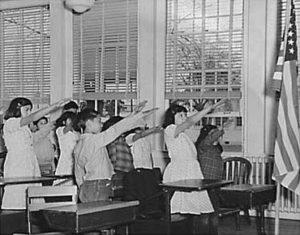 Bellamy salute, 1941